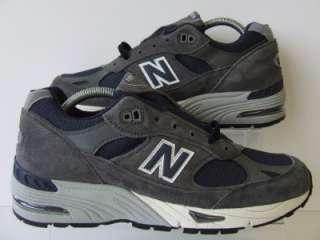 RARE New Balance Classic 991 SGN Grey & Navy Blue Mens Retro Trainers