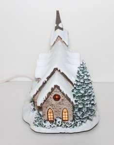Thomas Kinkade Lighted 2000 Hawthorne Christmas Village  Light of