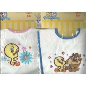 Baby Looney Tunes Circles 4 Piece Tweety Bird Crib Bedding Set