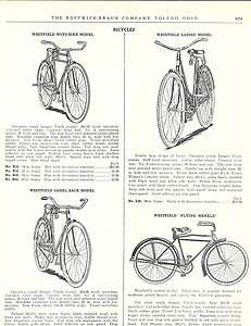 1927 ad Westfield Moto Bike Camel Back Bicycles Flying Merkle
