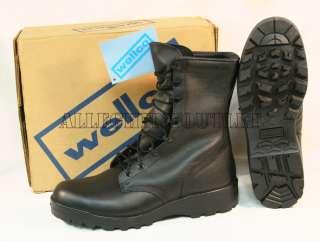 WELLCO USGI MILITARY FULL LEATHER Combat Boots w/ V Trax Sole 13.5R