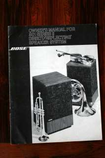 Bose 501 Series II Speaker Owners Manual *Original*
