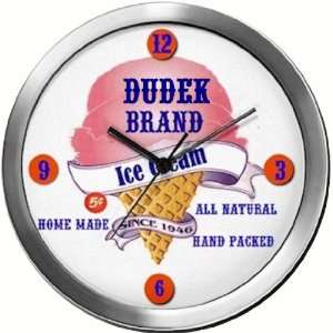 DUDEK 14 Inch Ice Cream Metal Clock Quartz Movement: