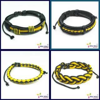 pcs Reggae Marley Rasta Hemp Surfer Leather Bracelet
