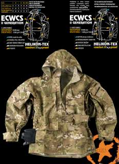 100% WATERPROOF ARMY FIELD PARKA, COMBAT JACKET SMOCK, ECWCS, MULTICAM