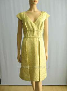 Kay Unger V Neck Leopard Jacquard Dress Beaded 12 $490