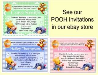 THE POOH BABY SHOWER FAVORS WATER BOTTLE LABELS ~ Glossy ~ Waterproof