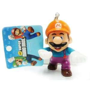 Super Mario Bros Theme Cartoon Figure with Key Ring