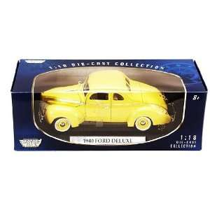 Ford Deluxe Hard Top (1940, 118, Yellow) diecast car model american