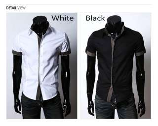 Mens Casual Slim Fit Stylish Dress Shirts S sleeves D15