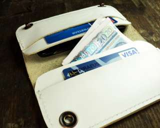 iphone 4 white leather case & wallet