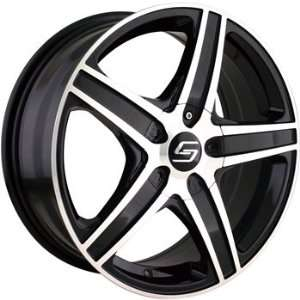 Sacchi S48 16x7 Black Wheel / Rim 5x4.5 & 5x120 with a 42mm Offset and