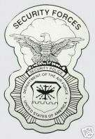 AIR FORCE SECURITY FORCES POLICE BADGE MILITARY DECAL