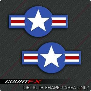 Air Force Roundel Star Sticker Jet Military USA