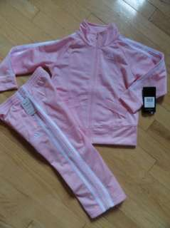 ADIDAS BABY TODDLER GIRLS 2 PC TRACK SUIT ATHLETIC PANTS WARM UP