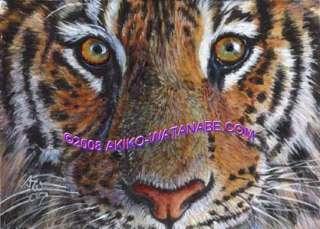 Akiko L/E ACEO Print Tiger #5 Big Cat Painting Art