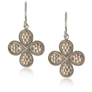 Anna Beck Designs Gili 18k Rose Gold Plated Clover Earrings: Jewelry