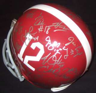 2009 2010 Alabama Crimson Tide Team Signed FS Helmet PROOF Dareus