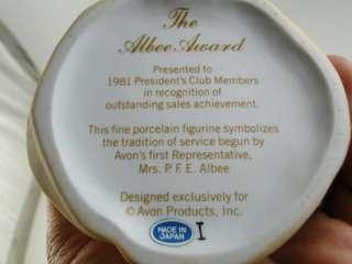 1981 Vinage Avon Albee Award Sales Figurine Presidens Club Old