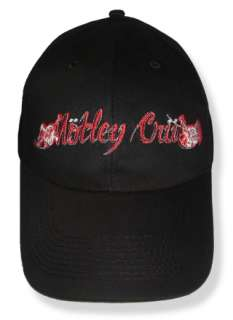 Motley Crue Logo Embroidered Cap or Hat Vince Neil