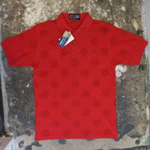 Fred Perry Comme des Garcons Red Polo T Shirt GENUINE