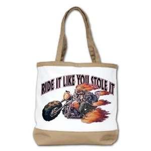Shoulder Bag Purse (2 Sided) Tan Ride It Like You Stole It