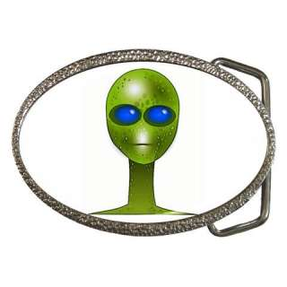 Green Alien Belt Buckle UFO Area 51 Roswell