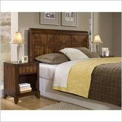 Home Styles Paris Queen Headboard & Night Stand Mahogany Bedroom Set