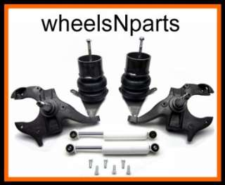 1998   2000 CHEVY S10 FRONT SUSPENSION KIT SPINDLE BRACKETS AIR BAGS