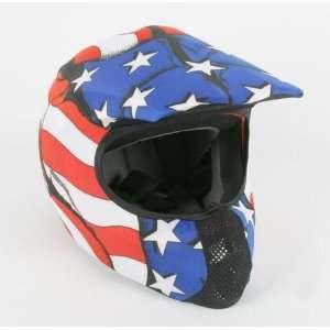 Moto Vation Racing Helmet Skinz , Color Red/White/Blue