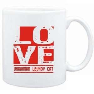 Mug White  LOVE Ukrainian Levkoy  Cats Sports