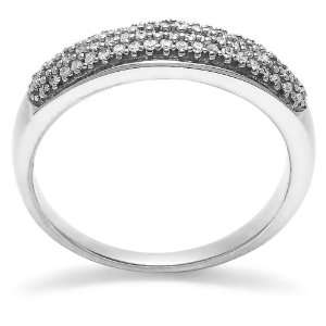 White Gold Diamond Ring (1/4 cttw, H I Color, I1 I2 Clarity), Size 5