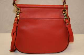 Coach Willis Leather Bag Vermillion Limited 70th Anniversary Edition