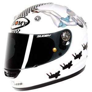 Suomy Vandal La Cocca Helmet   Medium/White Automotive