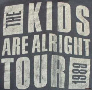 Vintage 80s T Shirt Concert Kids Alright Tour 1989 Rock N Roll Hanes