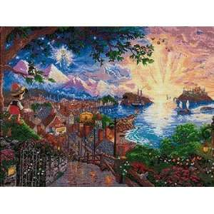 Disney Dreams Collection By Thomas Kinkade Pinocchio Wishes 16X12 18
