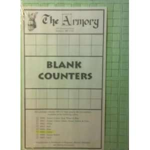 The Armory 780 1/2 High Quality Blank Die cut Counters