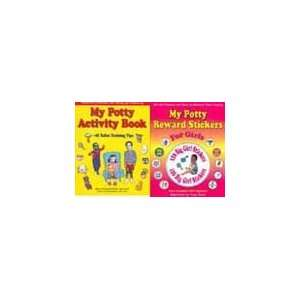 126 Girl Toilet Training Stickers and Chart + Potty Training Activity