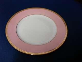 NEW PINK,WHITE,22K GOLD VINTAGE LIMOGES DINNER PLATE