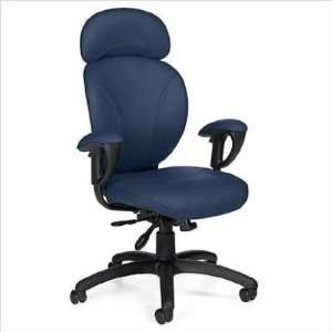 Azeo High Back Synchro Tilter Chair in Leather
