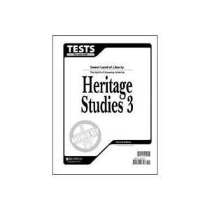 Studies 3 Tests Answer Key (Christian Schools) (9781579246747) Books