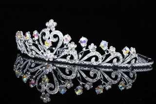 Bridal Wedding Swarovski Crystal Crown Tiara V679
