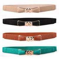 Women Lady Gold GP Buckle Fashion Narrow Waist Thin Skinny Belt SF3428