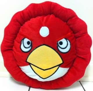 NEW RARE 13 Angry Birds Round Plush Throw Pillow Cushion FREE