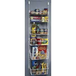 Deluxe Storage Pantry Door Rack: Home & Kitchen