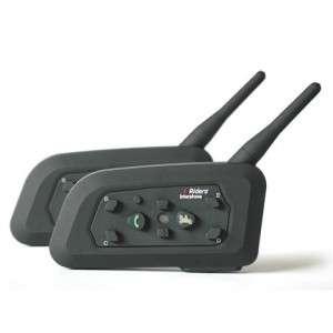 Bluetooth Intercom Headset Connects upto 6 riders 2 x BT 1000M