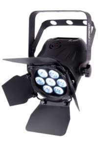 CHAUVET COLORDASH PAR TRI LED RGB DMX UPLIGHT BARN DOOR