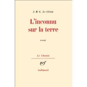 sur la terre (9782070298228): Jean Marie Gustave Le Clézio: Books