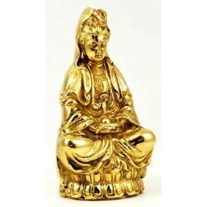 Brass Quan Yin Statuette 4 Everything Else