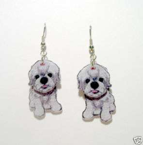 Shih Tzu Shih Tzu Dog Puppy Dimensional Earrings CUTE!